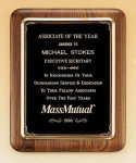 American Walnut Plaque with Antique Bronze Frame Achievement Awards