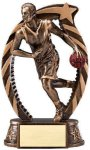 Bronze and Gold Award -Basketball Male Bronze and Gold Star Resin Trophy Awards