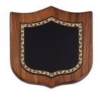 Walnut Shield Corporate Plaque Shield Plaques