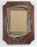 Walnut Cast Corporate Plaque Wreath Awards