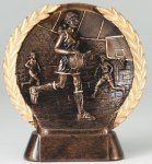 Resin Plate -Basketball Mini Female Wreath Mini Resin Trophy Awards